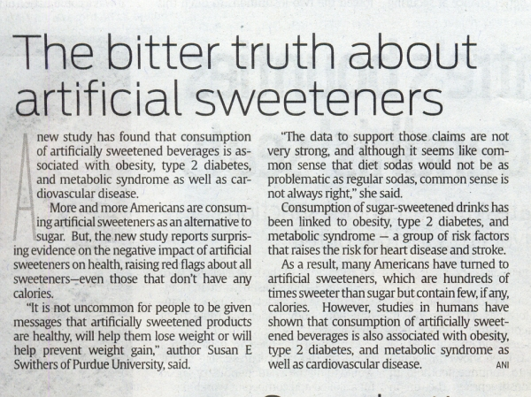 The bitter truth about sweeteners